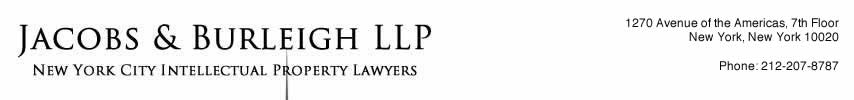 Jacobs & Burleigh LLP - New York City Trademark Registration Lawyer